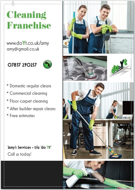 flyer cleaning franchise