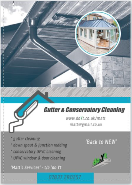 Gutter Conservatory Cleaning flyer