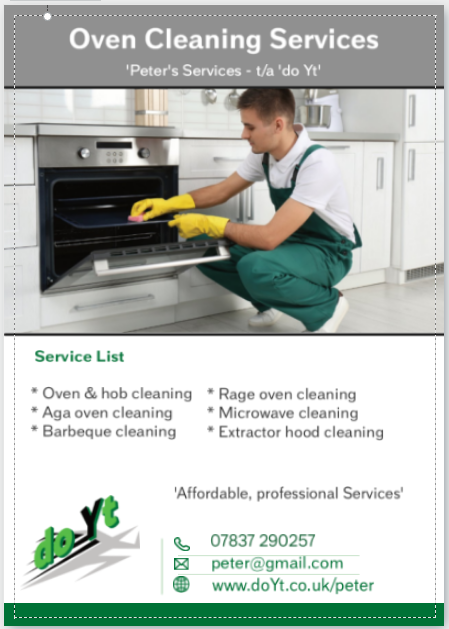 Oven cleaning franchise flyerr