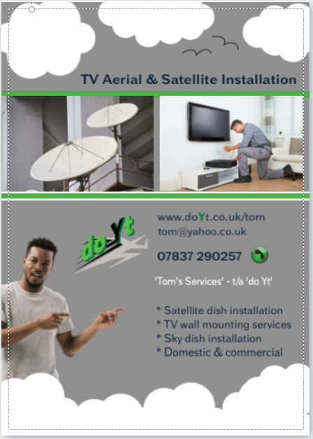 TV Aerial Satellite Installation flyer