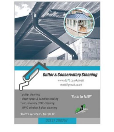 Gutter/Conservatory Clean Franchise