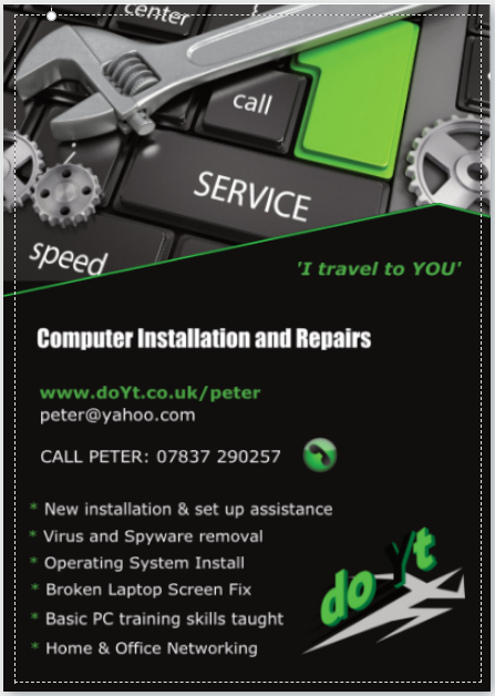 Computer Repairs Franchise flyer